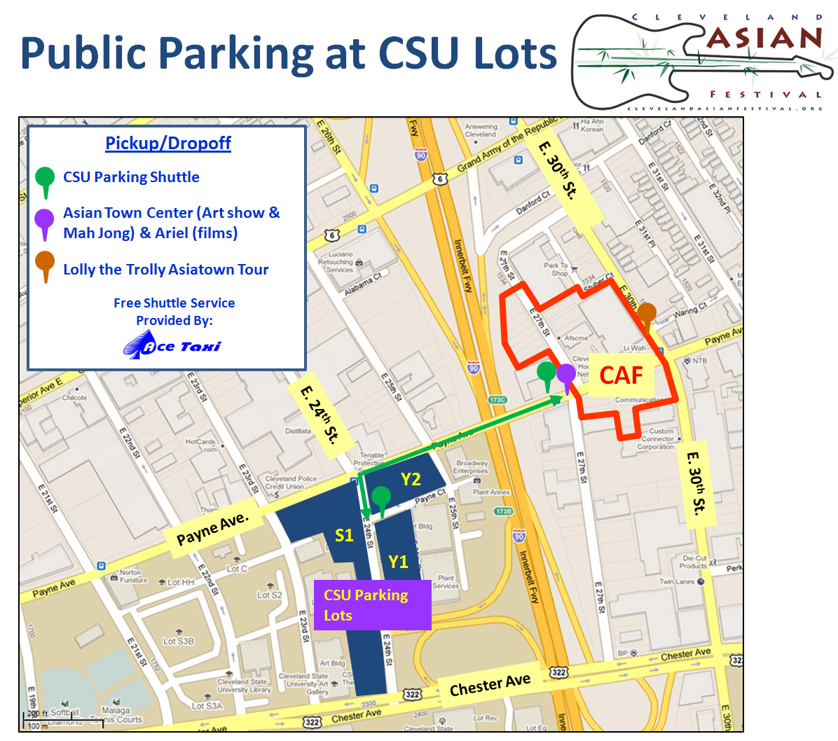 get direction using google.  cleveland asian festival » directions  parking