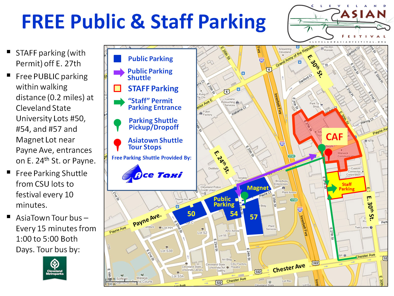 Parking Directions 6th Annual Cleveland Asian Festival
