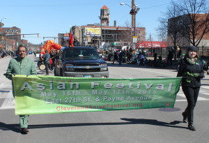 Cleveland Asian Festival at 148th Cleveland St Patrick's Day Parade